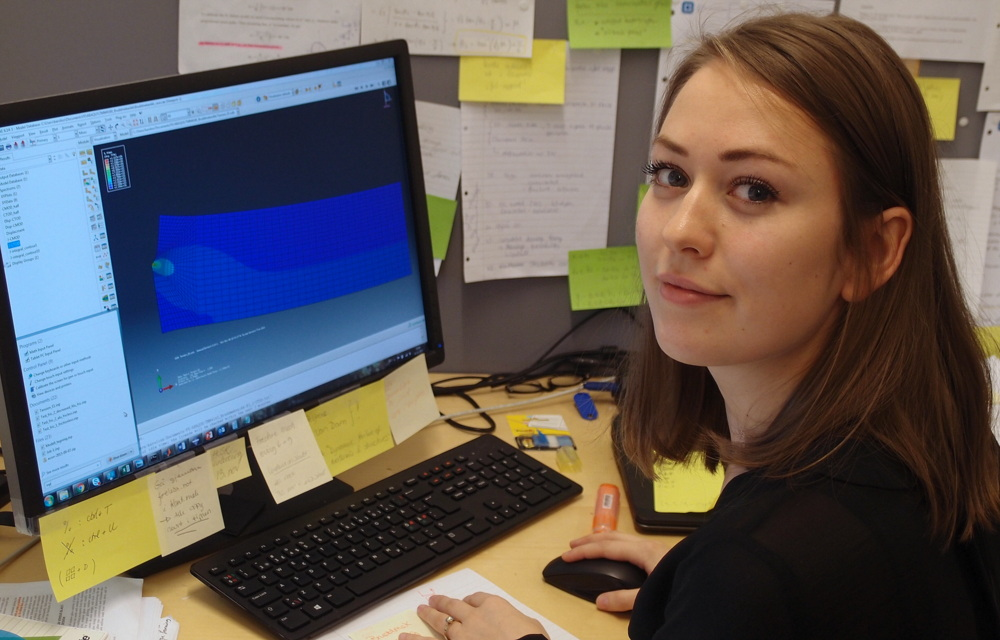 Karoline Osnes dropped a job at an engineering consultancy to go for a PhD at SFI CASA.