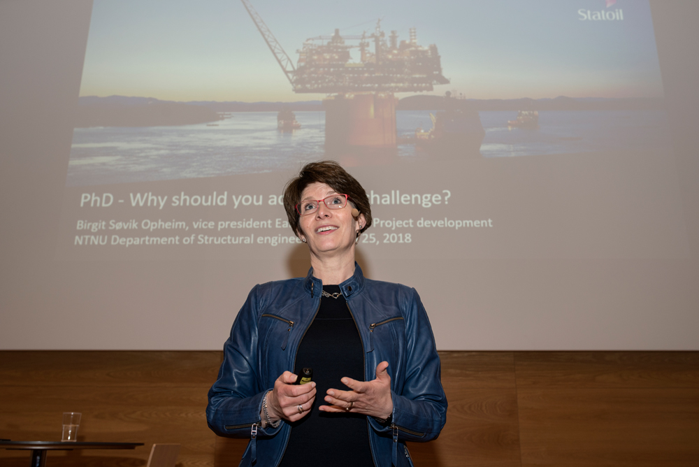 First woman on the scene: Birgit Søvik Opheim from Statoil turned Equinor. Photo: Lena Knutli.