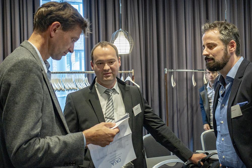 Left: Arild Holm Clausen, Andreas Koukal, Octavian Knoll