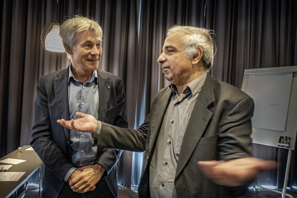Olav Bolland and Ahmed Benallal (right).