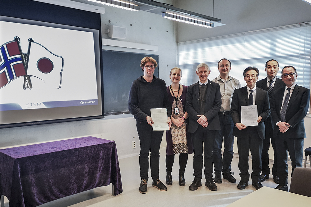 Closer connection with Japan. MOU agreement signed on NTNU.