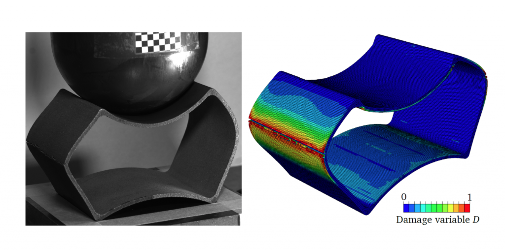 How do additively manufactured metals behave under extreme loads? An image of test and simulations