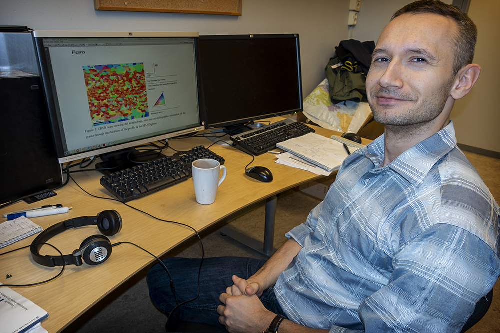 Mikhail Khadyko is an expert in modelling the behaviour of materials.