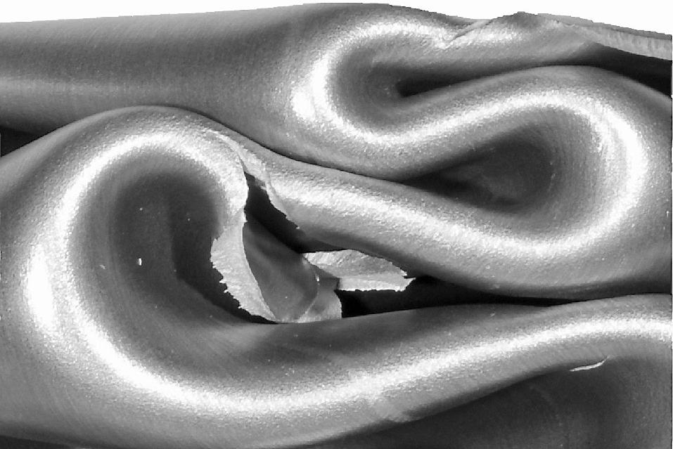 Close-up of aluminium profile with fracture
