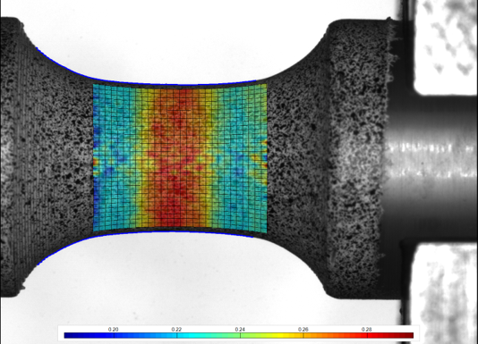 Test specimen of 3D printed polymer