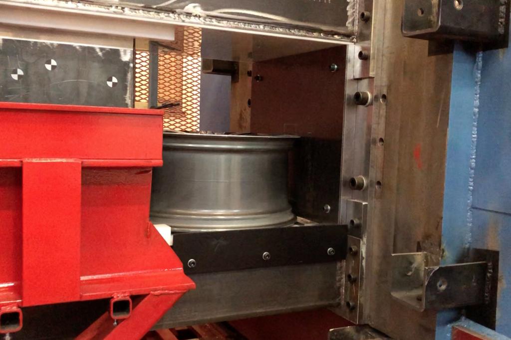 Test rig with cas aluminium rim