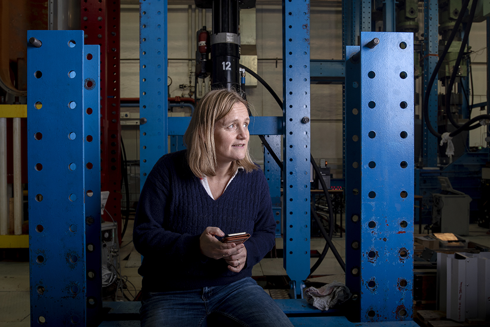 Woman sitting in Mechanical Lab