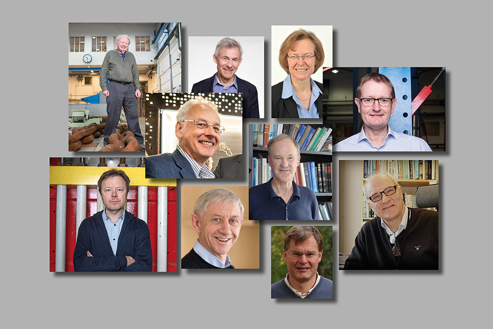 Collage of portrait photos of scientists